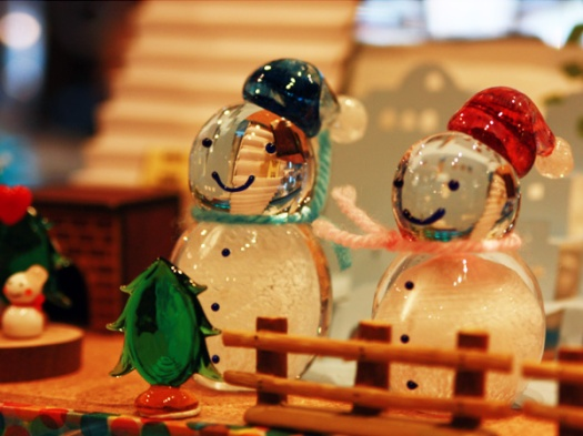 glass snowman