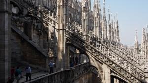 米蘭大教堂的飛扶壁(網上圖片)