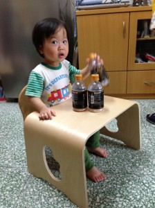 wood table & chair set for kid