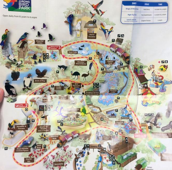 Jurong Bird Park Map