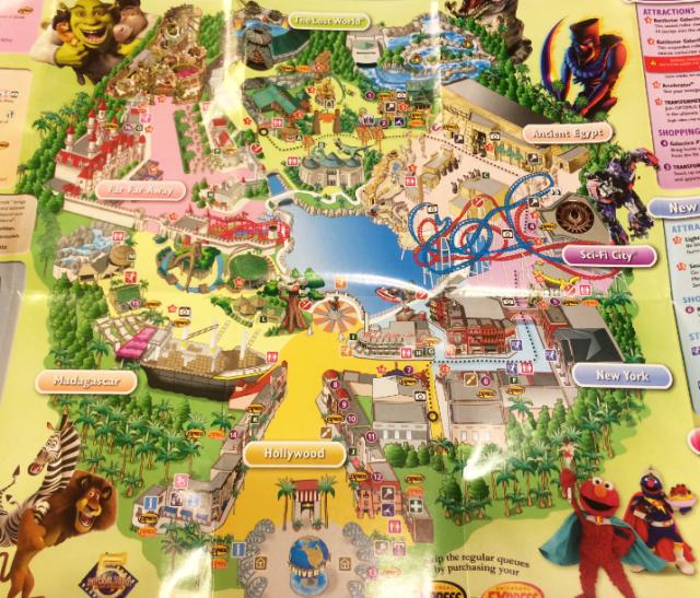 Universal Stuido Singapore Map1