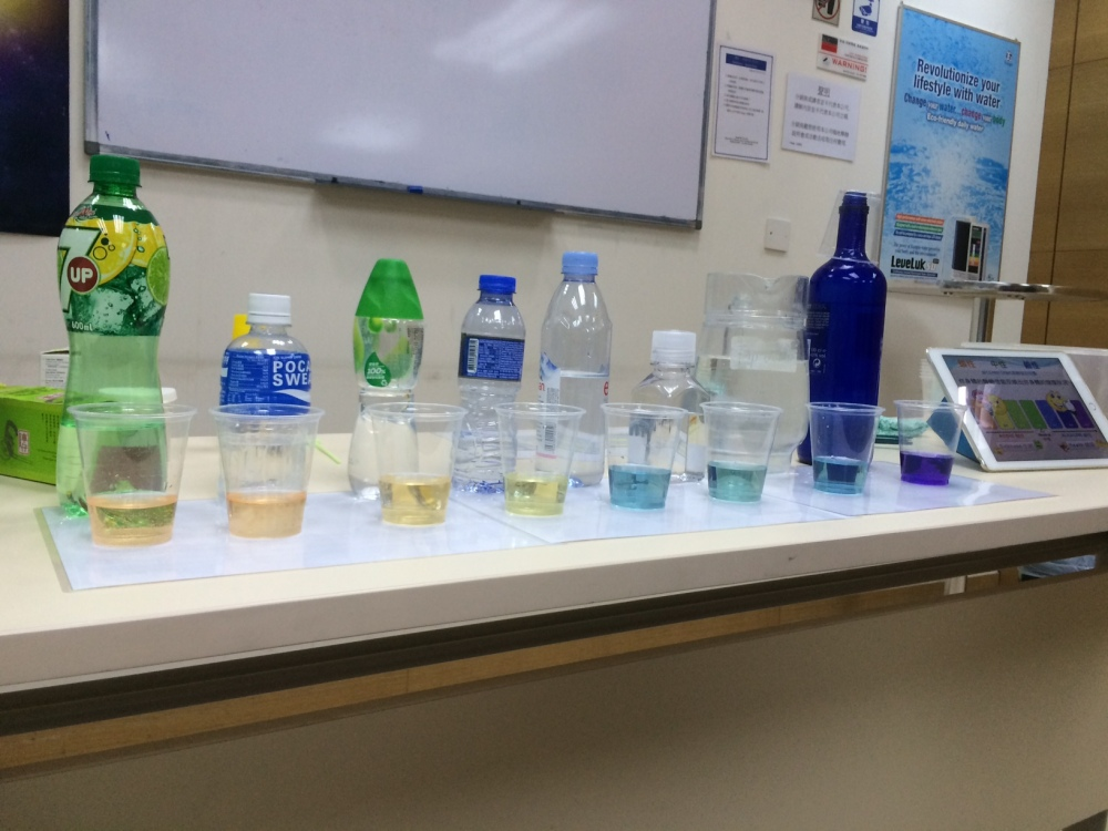 pH of different drink